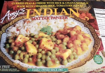 Indian frozen dinner