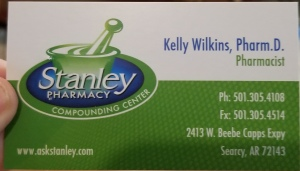 business card for Stanley Compound Pharmacy