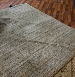 destroyed rug