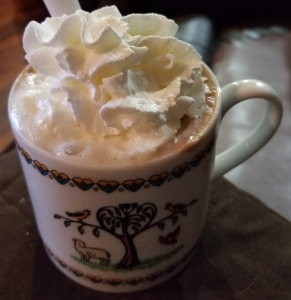 hot chocolate/coffee drink