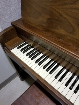 Piano at practice room