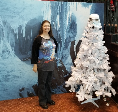 Me with Stormtrooper Christmas tree