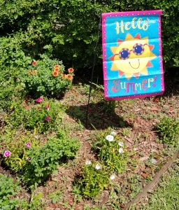 new summer flag in our front yard