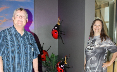 David and I with ladybugs