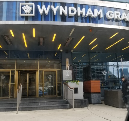 front of the Wyndham